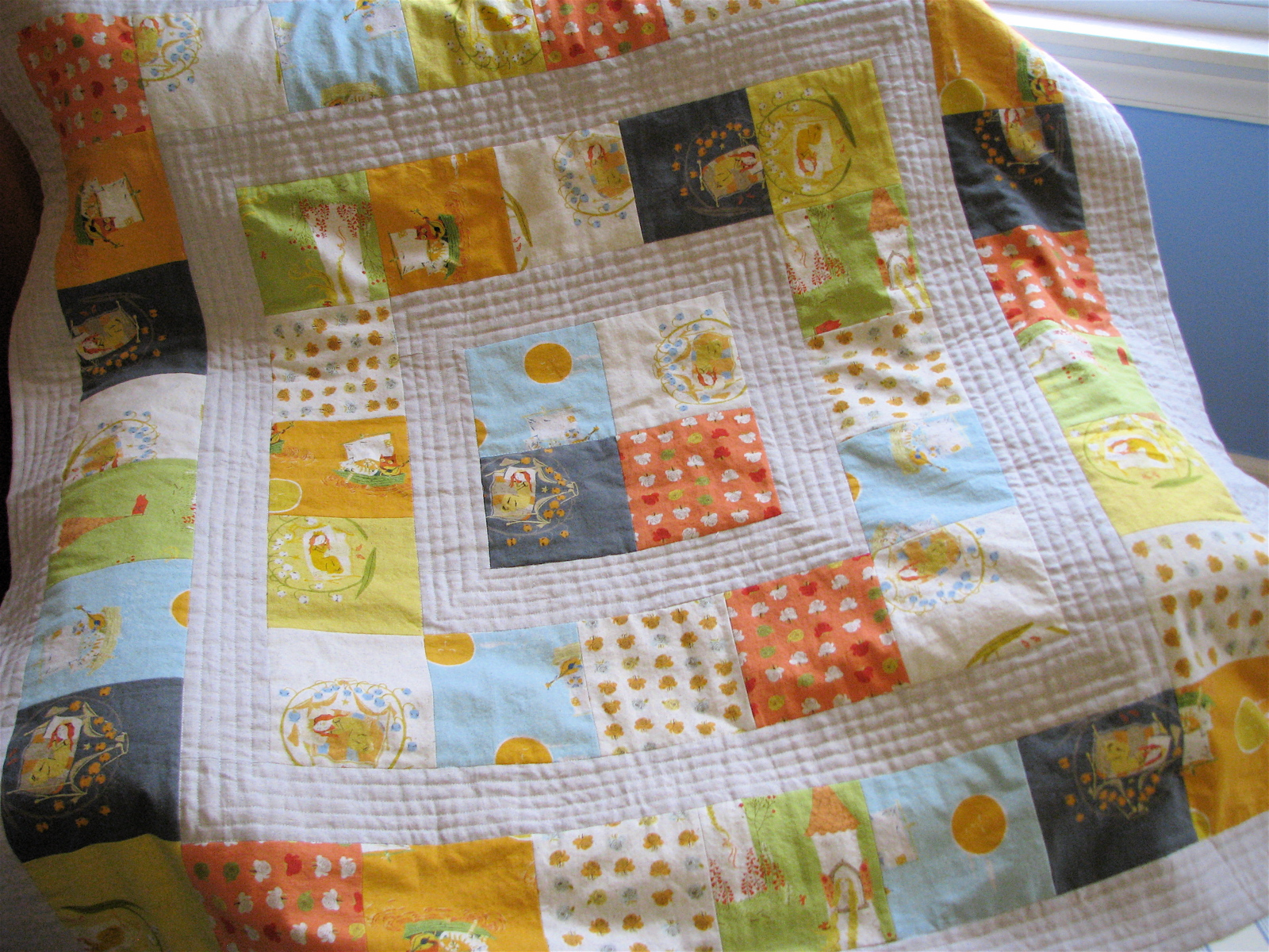 FINITO Storytime Squares Quilt in Far Far Away II Made By Rae