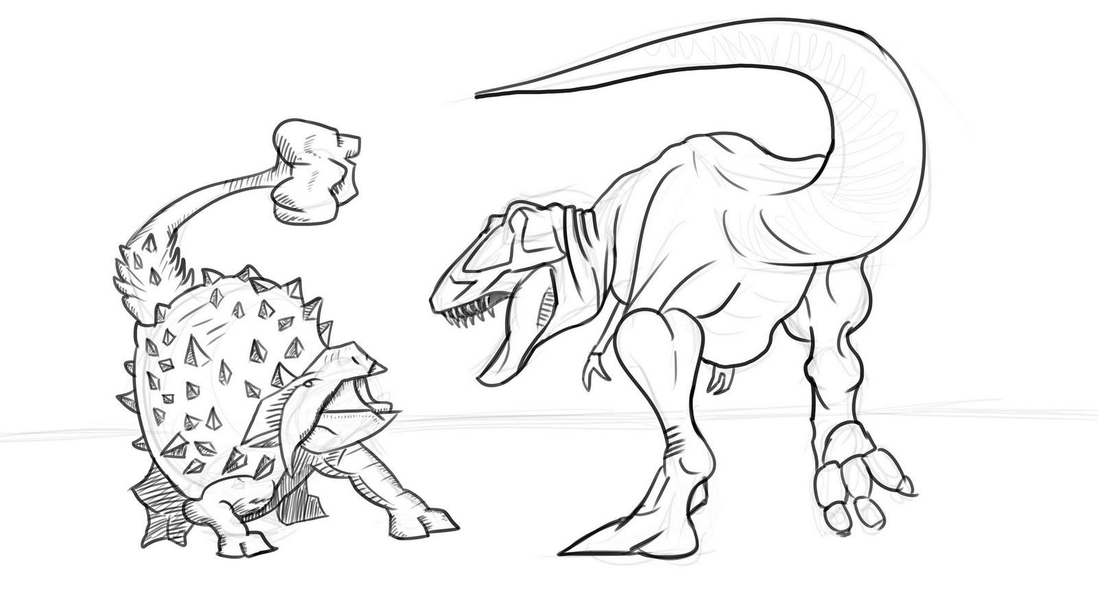 ashley u0026 39 s art dump  dinosaur sketch