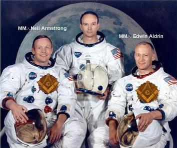 Neil Armstrong, descanse en paz maestro masón ASTRONAUTAS+MASONES