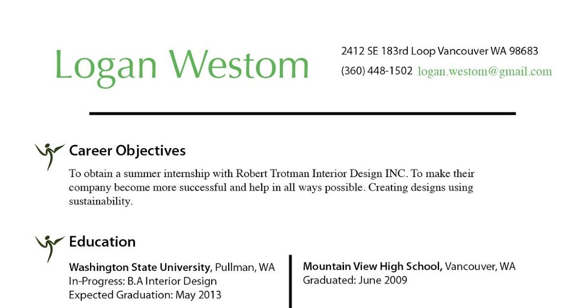 Logan Westom Interior Design Portfolio Resume