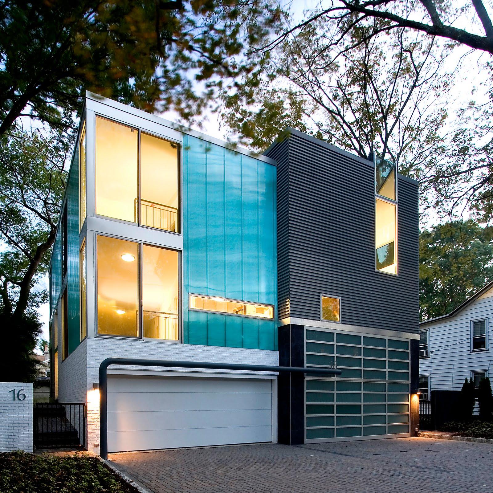 Tryography modern duplex nj for Modern urban house plans