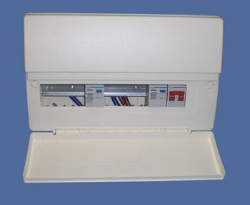 Hager Consumer Unit for home use - 17th Edition Consumer Unit Hager 12 Ways 1 Switch 2 X 63A RCD 30mA Split Load Insulated Enclosure