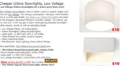 Cheaper Urbino Round/Square Downlights for interior use - £10 each!