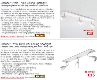 Cheaper Triple Spotlights for Ceiling, the Pavia Spotlights and the Ovale Ceiling Lights - hot deal!
