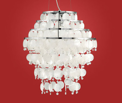 Chipsy 90033 Suspension Lamp - Chipsy Elegant Pendant with Mother of Perl and Chrome finish