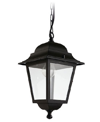 The LX205 Olimpo Outdoor Pendant, Black Hanging Lantern IP23 rated