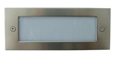 The BL30LB Recessed LED Brick Light, plain grill bricklight, blue LED lamp - £12.00