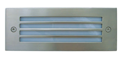 The BL31LB - Recessed LED BrickLight with Ribs Grill, Blue LEDs and stainless steel cover - £12.00