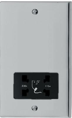 Heritage Brass LP1.895 - The Richmond Elite low profile shaver socket dual output 110V / 240V