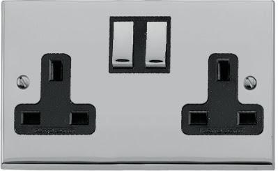 Heritage Brass LP1.850 - The Richmond Elite low profile Double 13 Amp Socket