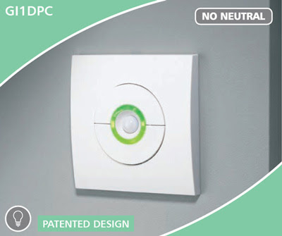 The CP Electronics GI1DPC - Green-I single dimmer with presence detection, single channel presence detection dimmer switch