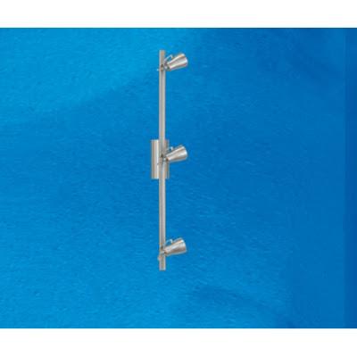 Cheaper Wall Elo 86233 three spotlight on a track bar in satin nickel 50W GU10 - £18!