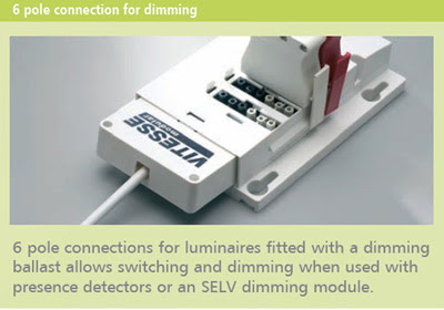 The Vitesse Modular 6 - Six Pole Connection for switching luminaires