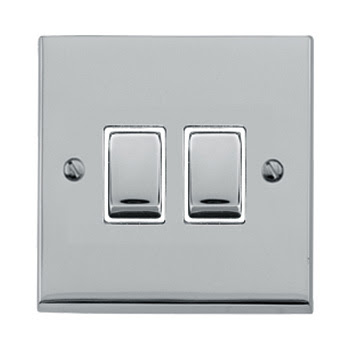 The Heritage Brass R02.810PCW - Victorian Elite Double Rocker Switch in Polished Chrome