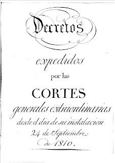 Decretos de las Cortes de Cádiz de 1810