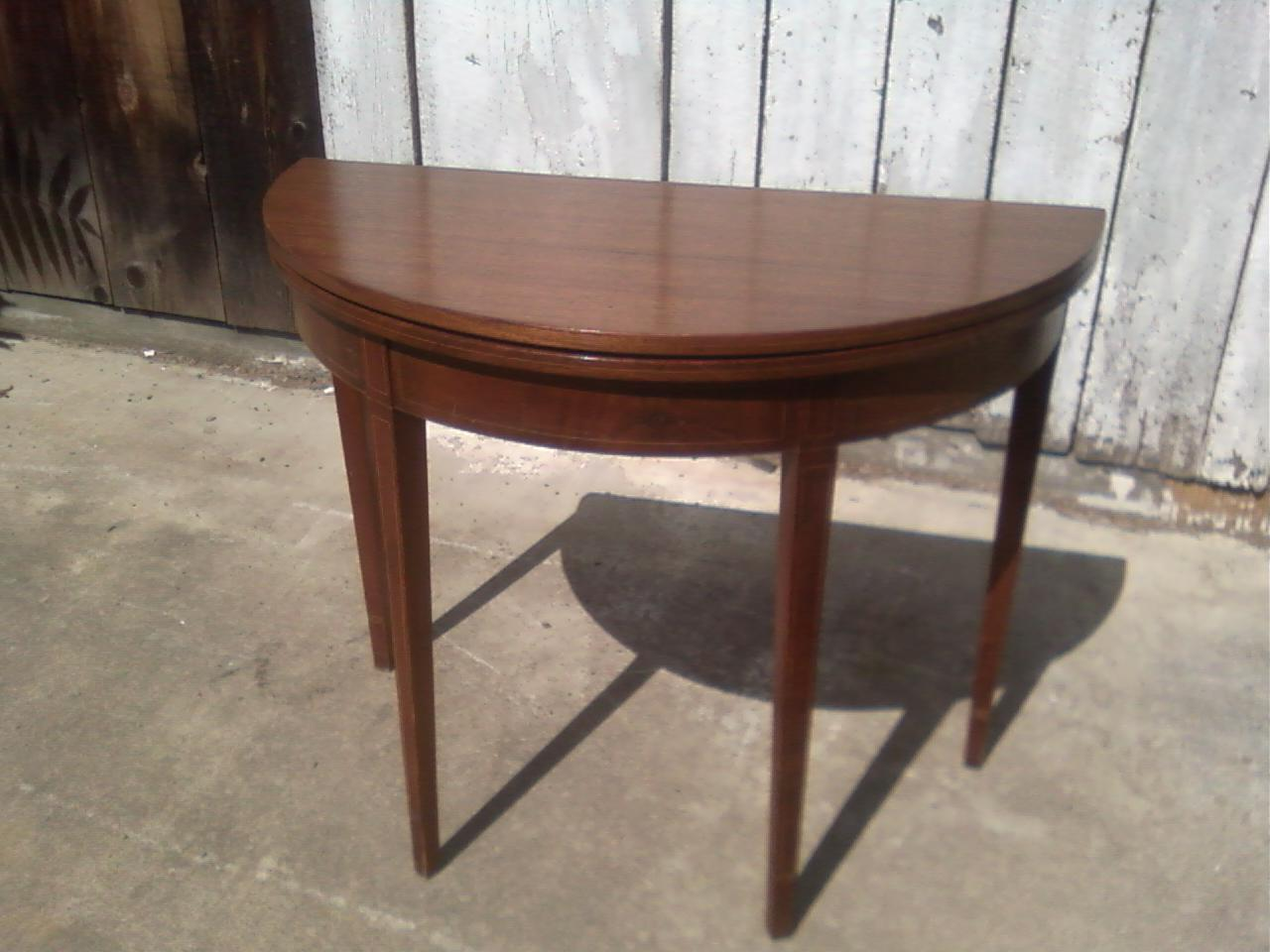 Charmant The Table Pictured In This Post Is For Sale. It Is A Mahogany Demilune Card  Table Made In The Hepplewhite Style. It Is Believed That The Table Is  Centennial ...