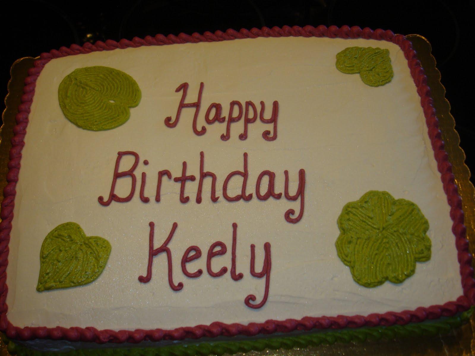 Vickis Sweet Treats Happy Birthday Keely