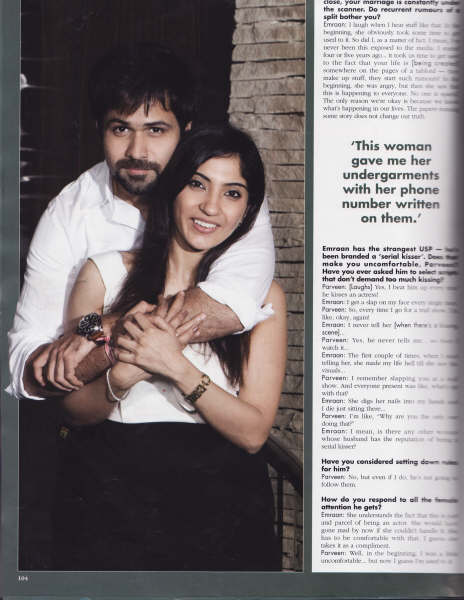 , Praveen Pictures, Emraan Hashmi Wife Praveen Scans from OK Magazine