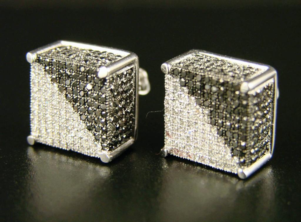 new york jewels ice cube block xxl mens si diamond stud. Black Bedroom Furniture Sets. Home Design Ideas