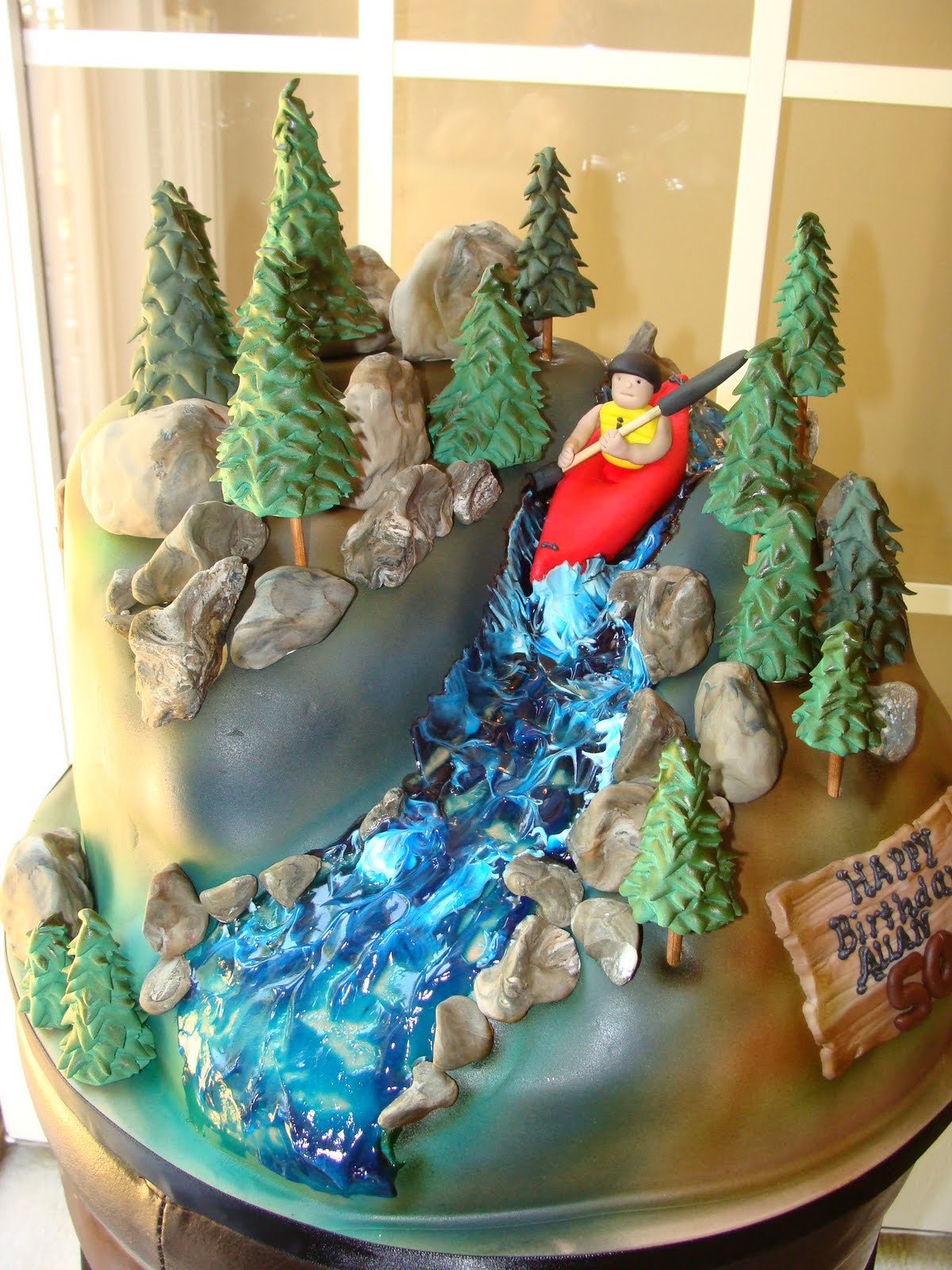 Cake Talk A Cake For A Kayaker