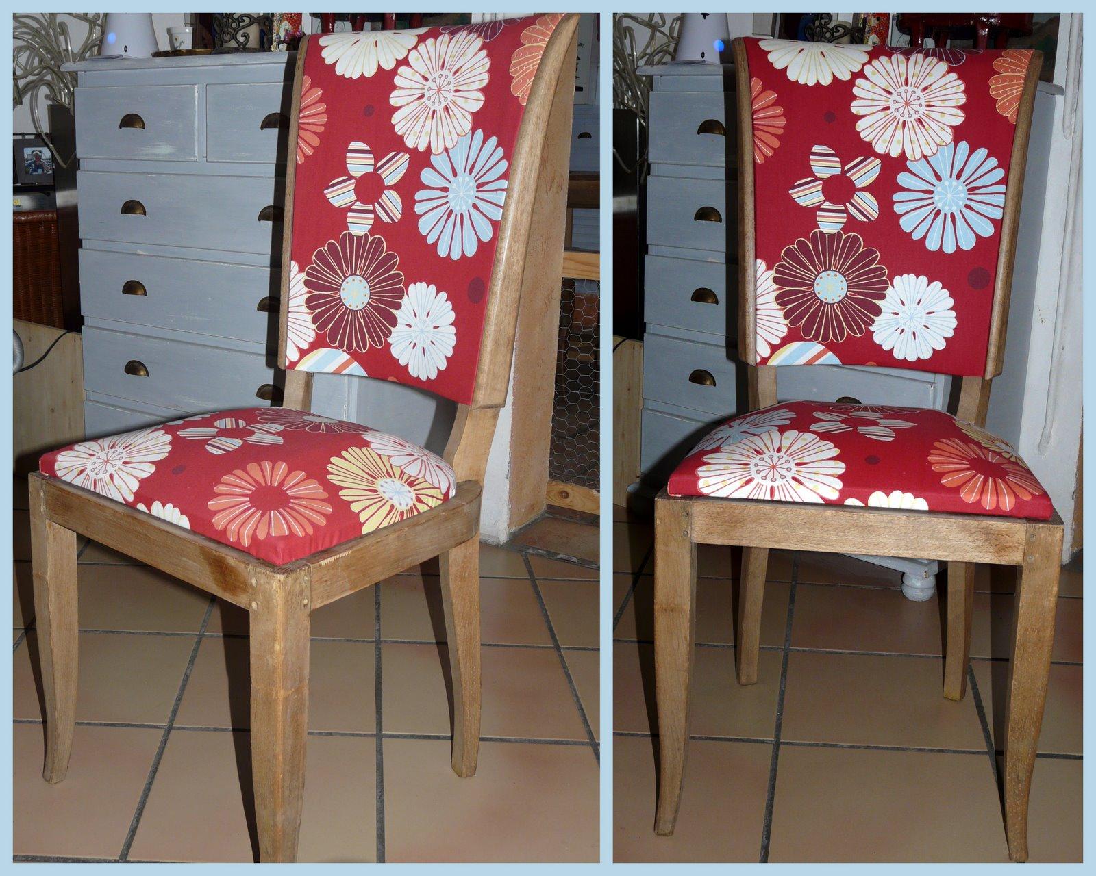 cest une vieille chaise des annes 50 trouve aux encombrants elle tait recouverte dun ska rouge sombre on la entirement dcape et retapisse - Chaise Annee 50