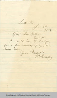 Letter from Billy the Kid to Lew Wallace