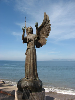 Puerto Vallarta angel sculpture Malecon