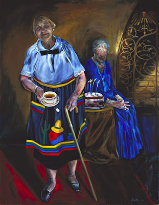 Painting, The Last Harvey Girl, by Tina Mion, 2005