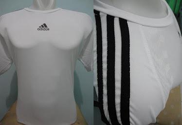 Kaos futsal adidas putih hitam