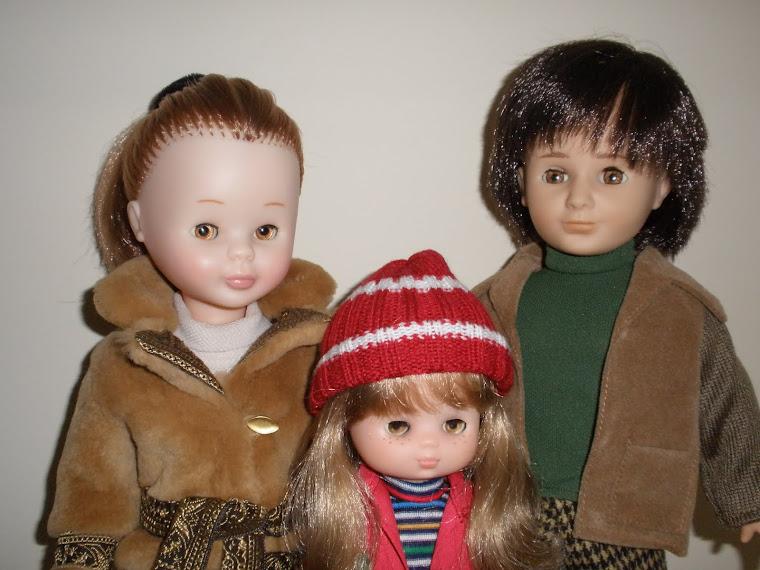 Nancy, Lucas y Lesly de mi infancia