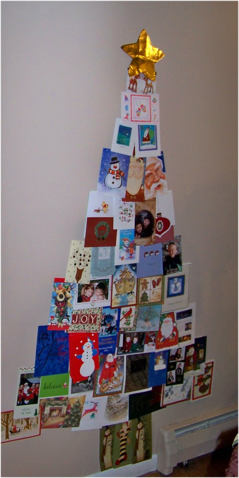 Sugar & Spice in the land of Balls & Sticks: Christmas Card Tree