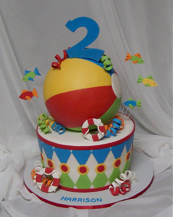 Cake With Ball Design : Beach Ball Blowout - Sugared Productions Blog