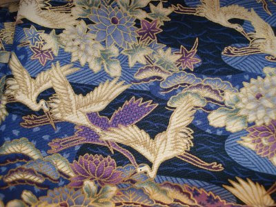 japanese stork fabric