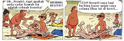 Kuta Beach cartoon