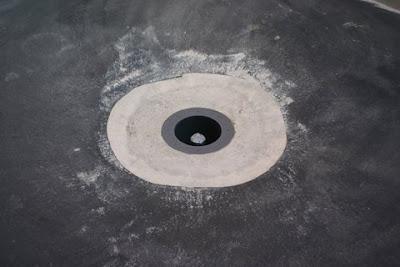 Usa koi 39 s blog 12 07 07 another polyurea spray liner for Koi pool bottom drain