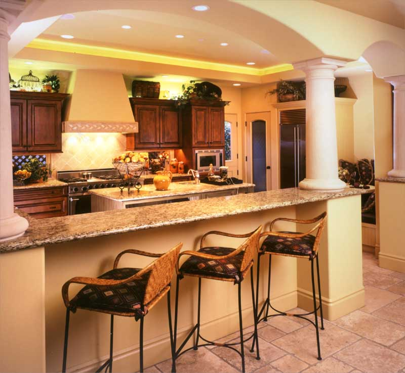 Luxury kitchen sets design modern home minimalist for Tuscan style kitchen lighting