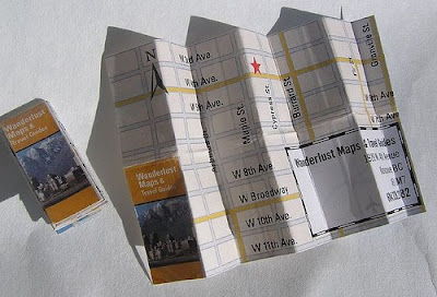 map on business cards