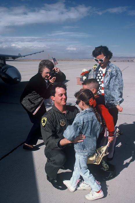 Capt. Kevin Hale returns to George AFB After Desert Storm Deployment