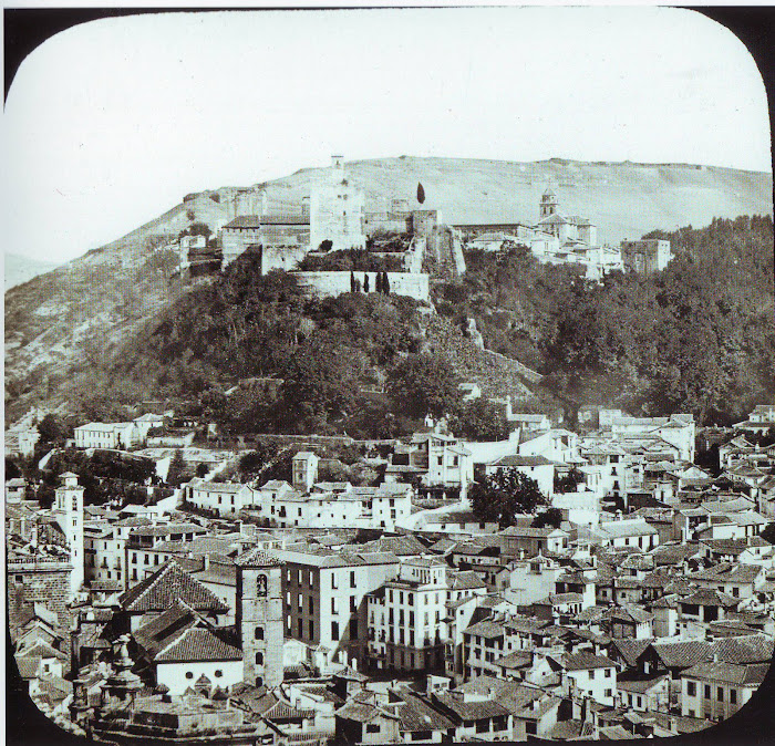 Adorable vista de Granada fotografiada por Laurent en 1857.