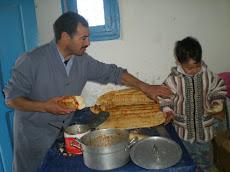 Hanine avec son père