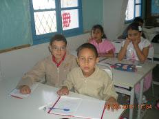 Ghaith Sghaier et Rayene Chebaane en classe avec leurs amis!