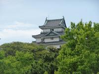 南通りから見上げた和歌山城