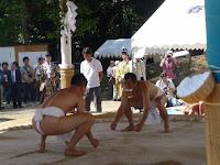 神(かみ)相撲と呼ばれ、氏子を代表する力士二人
