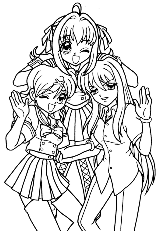 Pichi Pichi Pitch Forever: Dibujos para Colorear de Mermaid Melody