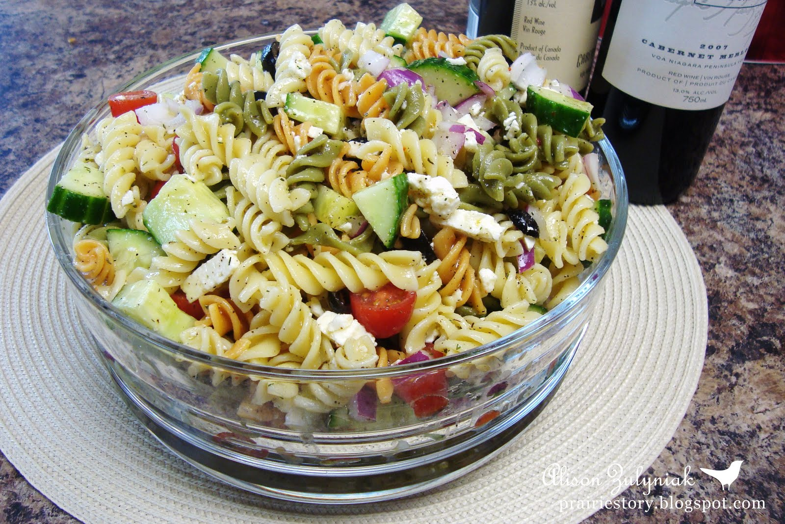 Prairie Story: Greek Pasta Salad