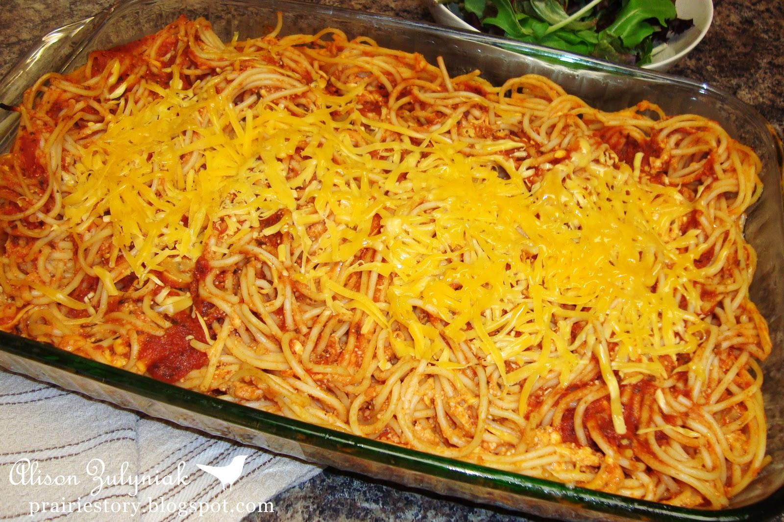 Prairie Story: Baked Spaghetti