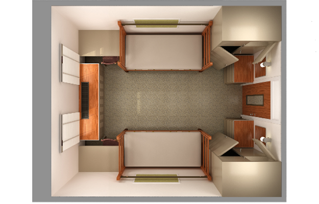 After Uploading My Sketch I Found This 3D Rendering Of Our Room On The UGA  Housing Website. I Wish I Had This Prior To Moving In! Part 63