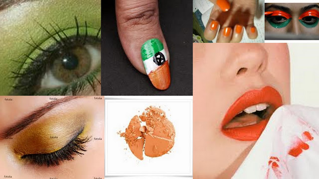 tri colour makeup ideas