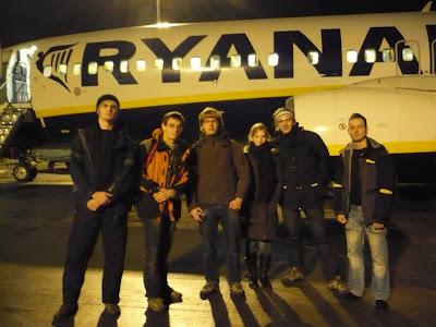 Ryanair trip Brno - Stansted - Cork