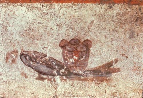 Pez Eucarístico de la Catacumba de San Calixto, S. II, Roma